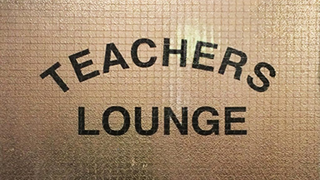 Teacher's Lounge door sign