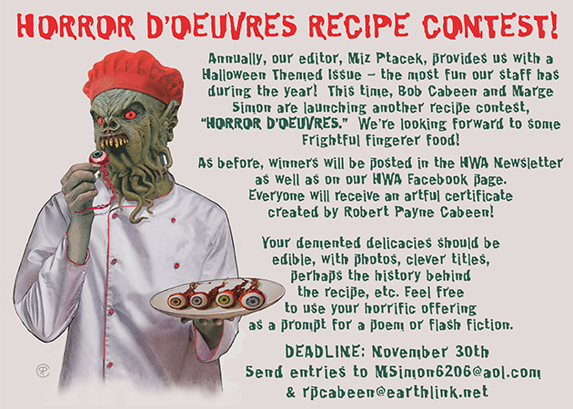Evernote Halloween 2020 Horror D'oeuvres Recipe Contest   Horror Writers Association